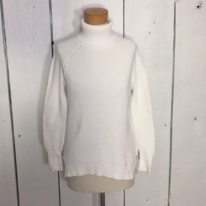 White J. Crew Turtleneck Sweater Tunic Size Small
